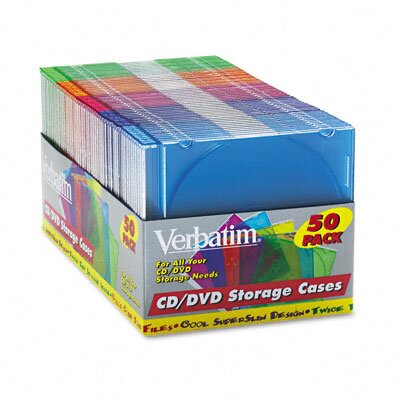 Verbatim Corporation Cd/Dvd Slim Case, 50/Pack