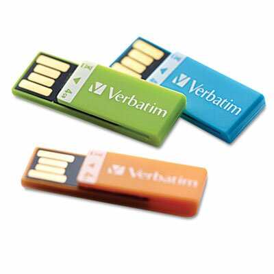 Verbatim Corporation Clip-It Usb Flash Drive, 4G, 3-Pack