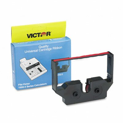 Victor Technology 7011 1500 Series Calculator Ribbon, Black/Red