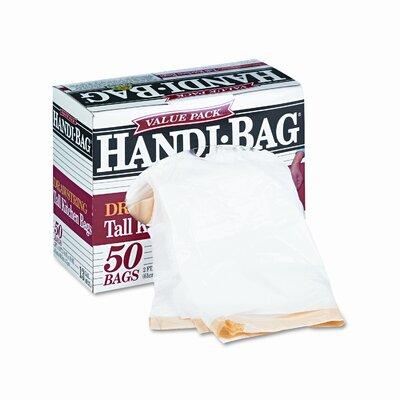 Webster Industries Handi-Bag Super Value Pack Trash Bags, 13 Gallon, .69 Mil, 24 X 27-3/8, 50/Box