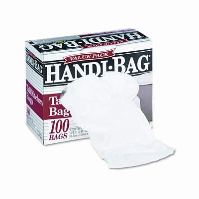 HANDI-BAG Super Value Pack Trash Bags, 100/Box