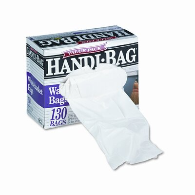 Webster Industries Handi-Bag Handi-Bag Super Value Pack, 8 Gallon, .55 Mil, 21-1/2 X 24, 130/Box