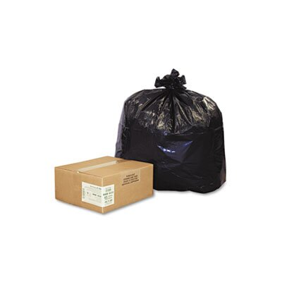 Webster Industries Earthsense Commercial Recycled Can Liners, 40-45 Gal., 2.0 Mil, 40 X 46, 100/Carton