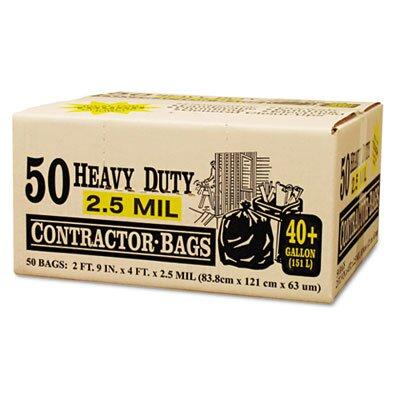 Webster Industries Handi-Bag Super Value Pack Contractor Bags, 42 gal, 2.5mil, 48 x 33, 50/ctn