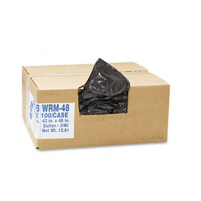 Webster Industries Classic 2-Ply Low-Density Can Liners, 56 Gal, .8 Mil, 43 X 48, 100/Carton