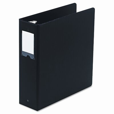 "Wilson Jones Basic Round Ring Binder with Label Holder, 3"" Capacity"