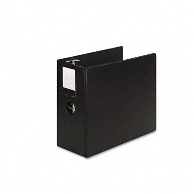 "Wilson Jones Heavy-Duty No-Gap D-Ring Binder with Label Holder, 5"" Capacity"