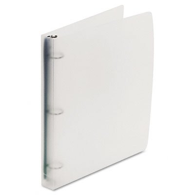 "Wilson Jones Translucent Poly Round Ring Binder, 1"" Capacity"