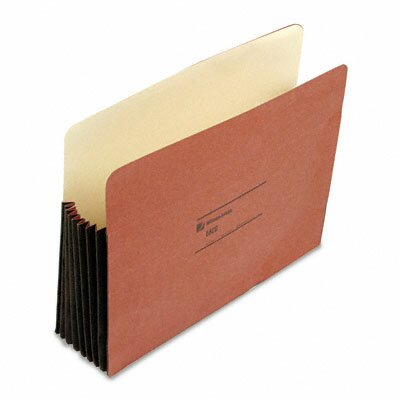 Wilson Jones Seven Inch Expansion Pocket, Straight, Letter, Redrope, 10/Box