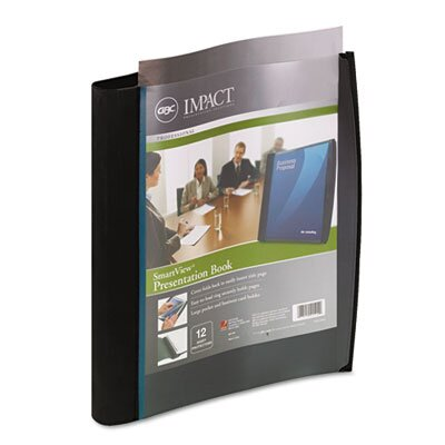 Wilson Jones Smart-View Multi-Ring Presentation Book, 12 Letter-Size Sleeves