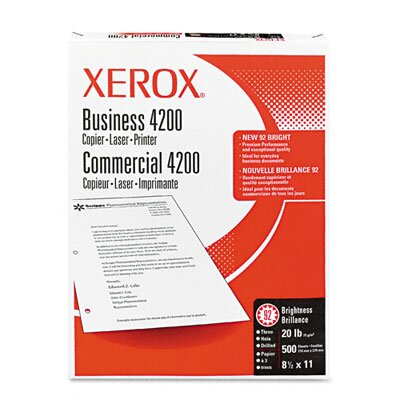 Xerox® 4200 Business 3-Hole Office Paper, 92 Brightness, 20lb, Letter, 5,000 Sheets