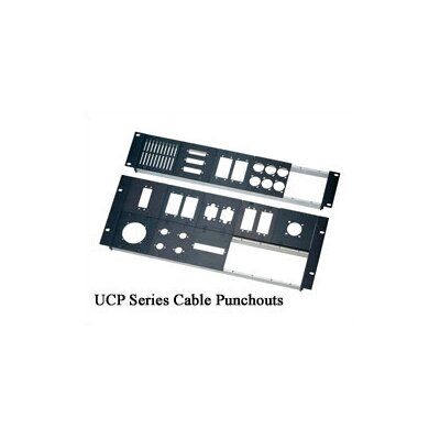 "Middle Atlantic UCP Series 3/8"" D Cable Punchouts"