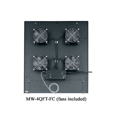 "Middle Atlantic WRK-SA Series 4 1/2"" Quiet Top Fan"