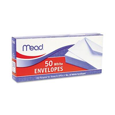 Mead Business Envelope, 4 1/8 X 9 1/2, 20 Lb, 50/Box
