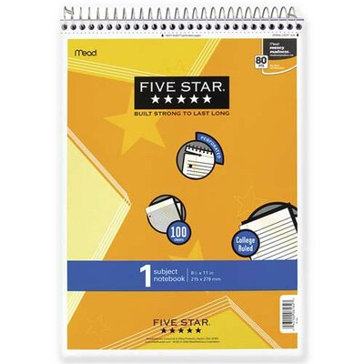 """Mead Note Pad, Wirebound, 1-Sub., College Ruled, 100 Sh, 8-1/2""""x11"""", Assorted"""