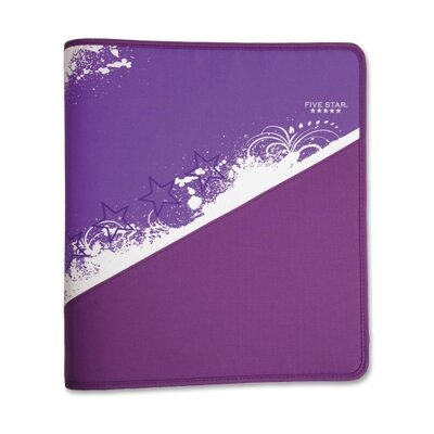 "Mead Zipper Binder, 1-1/2"", Zipper Pocket, 12""x13-3/4"", Assorted Colors"