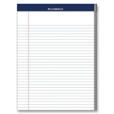 Mead Legal Pad, College Rule, 70 Sheets, 8-1/2&quot;x11&quot;, White