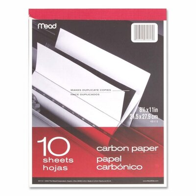 "Mead Carbon Paper Tablet, 8-1/2""x11"", Black Carbon"
