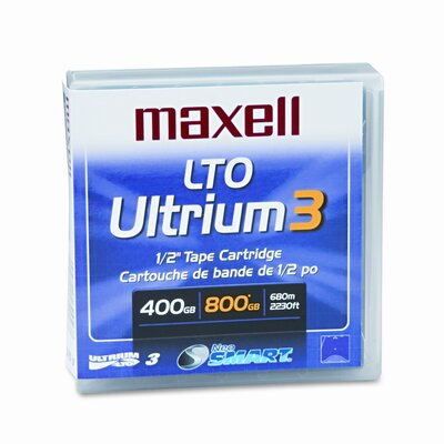 "Maxell Corp. Of America 1/2"" Ultrium Lto-3 Cartridge, 2200Ft, 400Gb Native/800Gb Compressed Capacity"