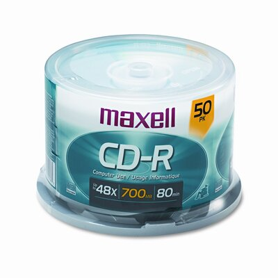 Maxell Corp. Of America Spindle Cd-R Discs, 700Mb/80Min, 48X, 50/Pack