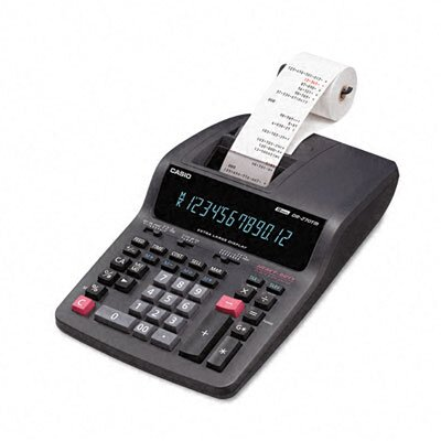 Casio® DR-270TM Desktop Calculator, 12-Digit Digitron, Two-Color Printing