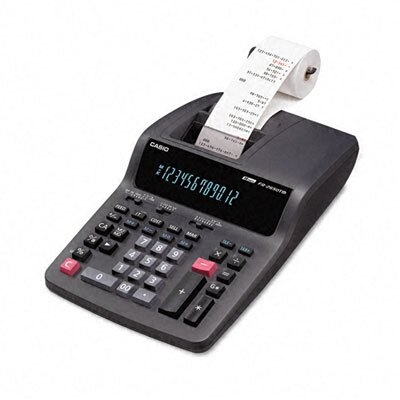 Casio® Printing Desktop Calculator, 12-Digit Digitron