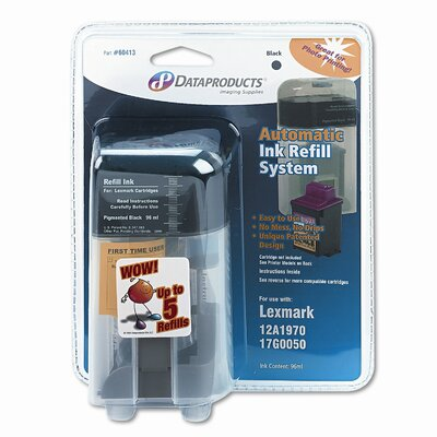 Dataproducts 60413 (RF196) Inkjet Auto Refill Kit System, Black
