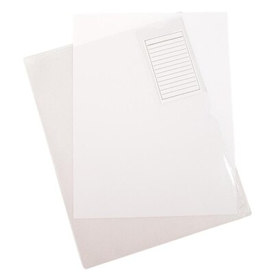 "Anglers Company Ltd. Clear Vinyl Organization Folders w/Pocket, w/Card Pocket, .014 Vinyl, 11""x8-1/2"", CL"