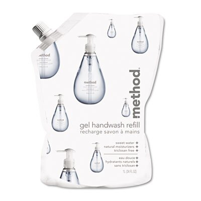 Method® Gel Hand Wash Refill, 34 Oz., Sweet Water Scent, Plastic Pouch