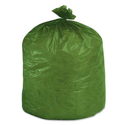 Stout Eco-Degradable Plastic Trash Garbage Bag, 33 Gal, 1.1Mil, 33X40, 40/Box