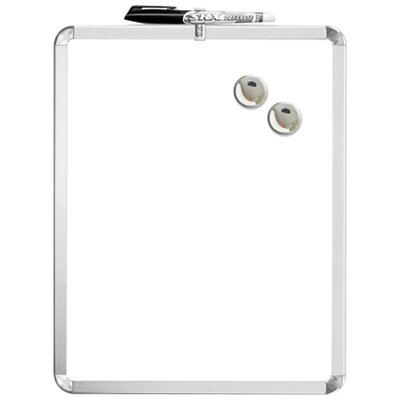 "Magnetic Dry-erase Board, 1 Marker/2 Magnets, 11""x14"", White"