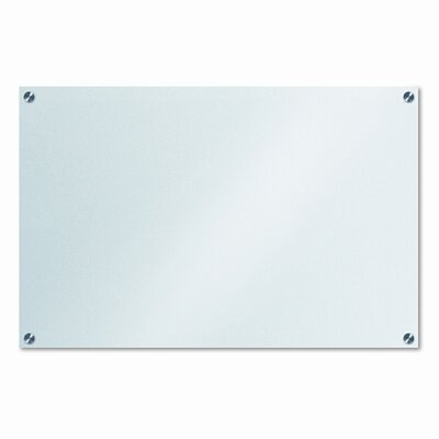 The Board Dudes Glassx Frosted Glass Dry Erase Board, 35 X 23, Unframed