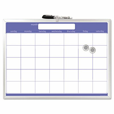 The Board Dudes Magnetic Dry Erase Board, Monthly Planner, 23 X 17
