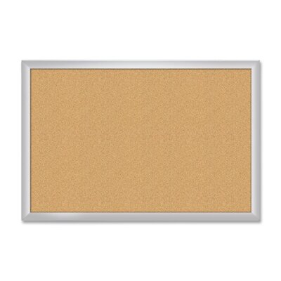 "The Board Dudes Aluminum Frame Cork Bulletin Board, 36""x48"", Aluminum Frame/Cork"