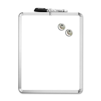 "The Board Dudes Magnetic Dry-erase Board, 1 Marker/2 Magnets, 11""x14"", White"