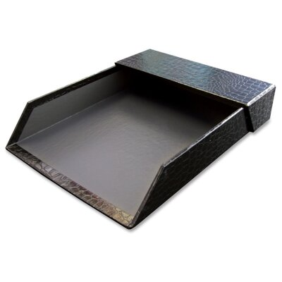 Aurora Products Letter Tray W/Roof, Heavy Duty, 12/CT, Black