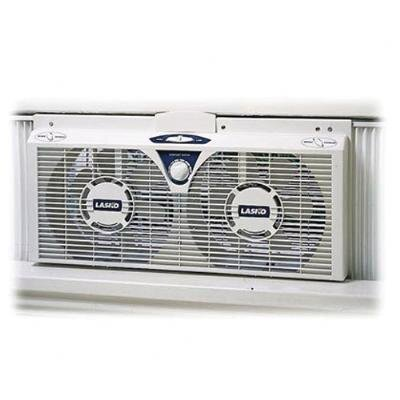 "Lasko 8"" Reversible Twin Window Fan"