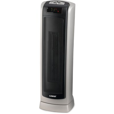 Lasko 1,500 Watt Ceramic Tower Space Heater with Thermostat