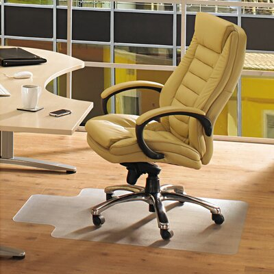 Floortex Ecotex 100% Post Consumer Recycled Lipped Shape Chair Mat for Hard Floors