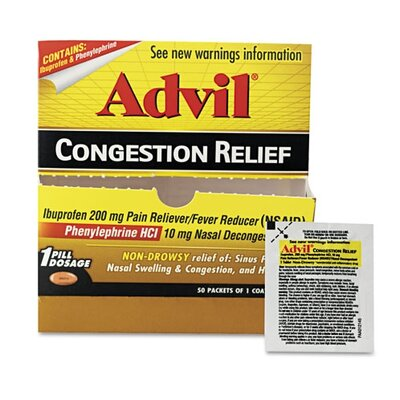 PRODUCTS FOR YOU                                   Advil Congestion Relief, 1 Per Pack, 50 Packs/Box