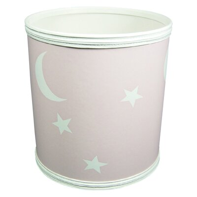 Stars and Moons Pattern Nursery Wastebasket