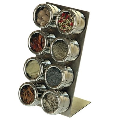 Lipper International Soho 8-Piece Stainless Steel Container and L-Stand Set