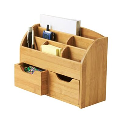 <strong>Lipper International</strong> Bamboo Space Saving Desk Organizer