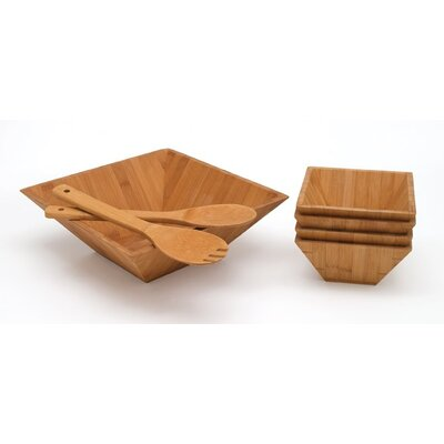 Lipper International Bamboo Seven Piece Salad Set