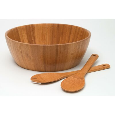 "Lipper International Bamboo 11.75"" 3 Piece Salad Set"