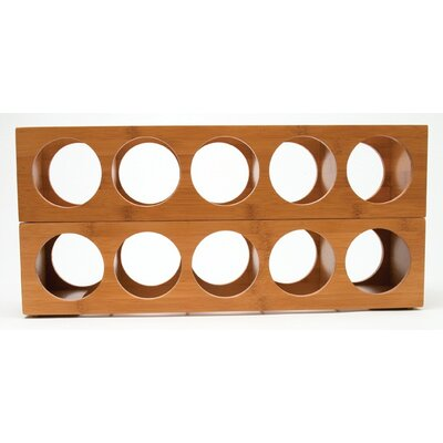 Lipper International 5 Bottle Wall Mounted Wine Rack
