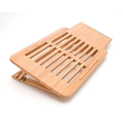 Lipper International 1.5&quot; Bamboo Laptop Computer Tray / Holder Slatted