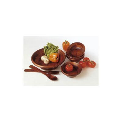 Lipper International Cherry 7 Piece Salad Bowl and Server Set