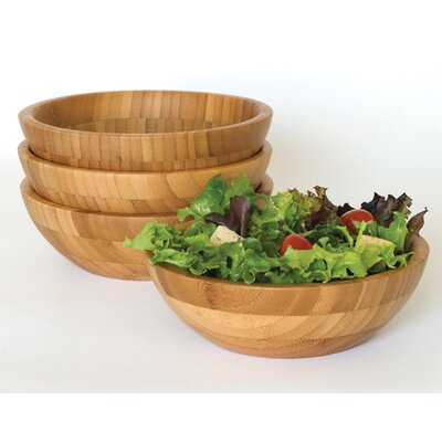 Lipper International Bamboo Salad Bowl (Set of 4)