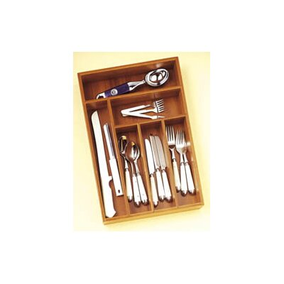 Lipper International Bamboo Deep Flatware Organizer